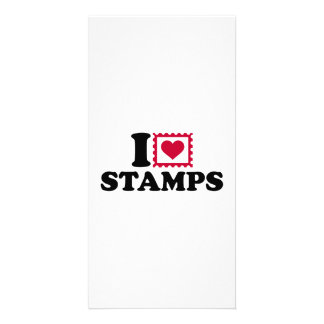I love stamps photo card