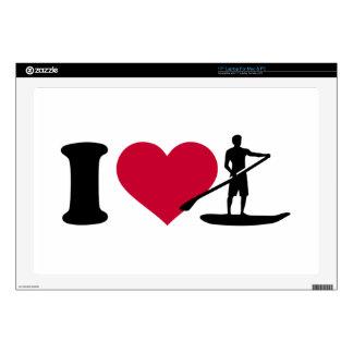 I love Stand up paddling Laptop Skins