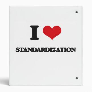 I love Standardization Binders