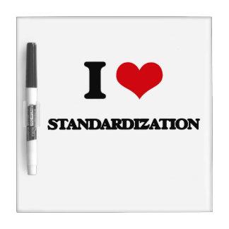I love Standardization Dry Erase Whiteboard