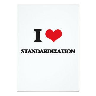 "I love Standardization 5"" X 7"" Invitation Card"