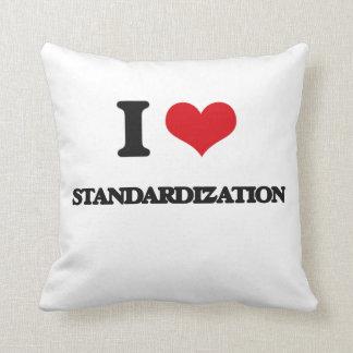 I love Standardization Throw Pillows