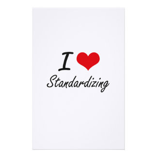 I love Standardizing Stationery