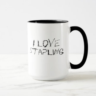 I love stapling - urban, edgy office work mug