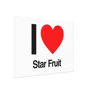 i love star fruit canvas print