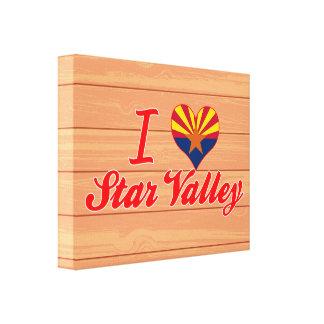 I Love Star Valley, Arizona Canvas Prints