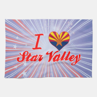 I Love Star Valley, Arizona Hand Towels