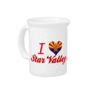 I Love Star Valley, Arizona Beverage Pitcher