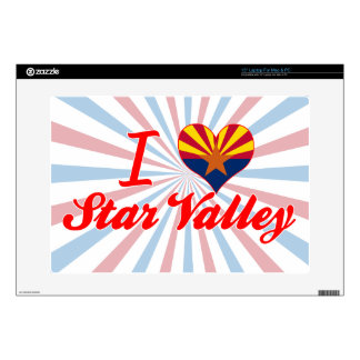 """I Love Star Valley, Arizona Decal For 15"""" Laptop"""