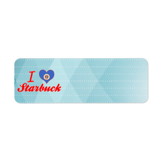 I Love Starbuck, Minnesota Custom Return Address Labels