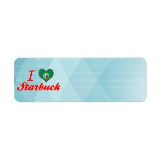 I Love Starbuck, Washington Labels