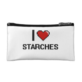 I Love Starches Cosmetic Bags