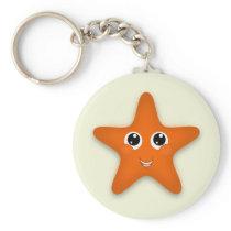 I Love Starfish Keychain