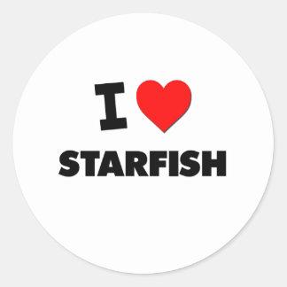 I love Starfish Classic Round Sticker