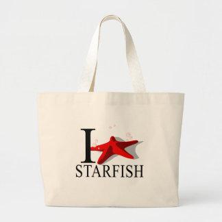 I Love Starfish Tote Bags