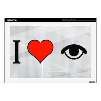 """I Love Staring At Someone In The Eye Skins For 17"""" Laptops"""