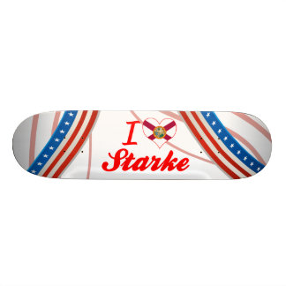 I Love Starke, Florida Custom Skate Board
