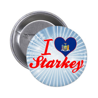 I Love Starkey, New York Button