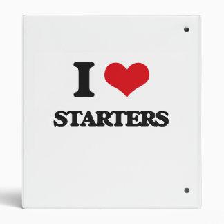 I love Starters 3 Ring Binders