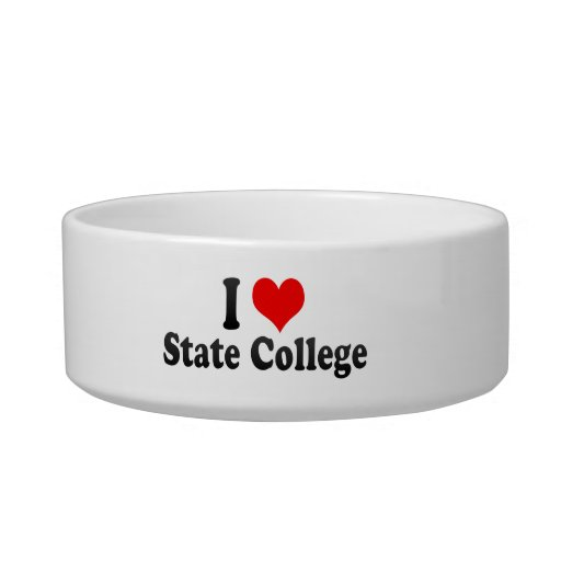 I Love State College, United States Cat Food Bowls