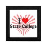 I Love State College, United States Keepsake Boxes
