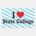 I Love State College, United States Rectangular Sticker