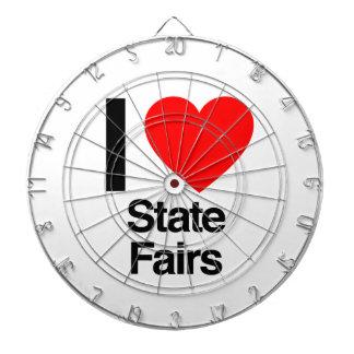 i love state fairs dartboard with darts