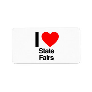 i love state fairs personalized address labels