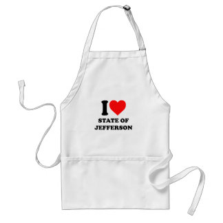 I Love State of Jefferson Adult Apron