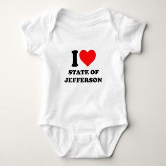 I Love State of Jefferson Baby Bodysuit