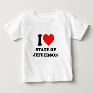 I Love State of Jefferson Baby T-Shirt