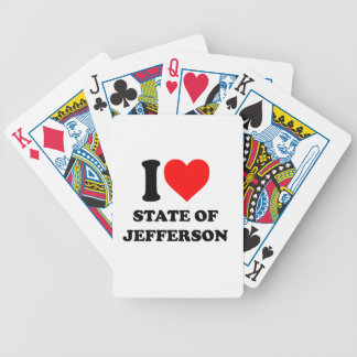 I Love State of Jefferson Bicycle Playing Cards