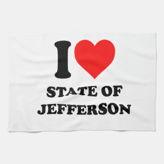 I Love State of Jefferson Towels