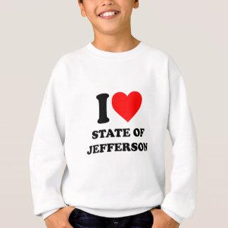 I Love State of Jefferson Sweatshirt