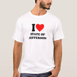 I Love State of Jefferson T-Shirt
