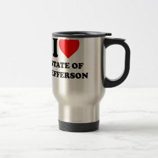I Love State of Jefferson Travel Mug