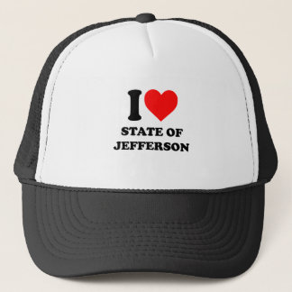 I Love State of Jefferson Trucker Hat