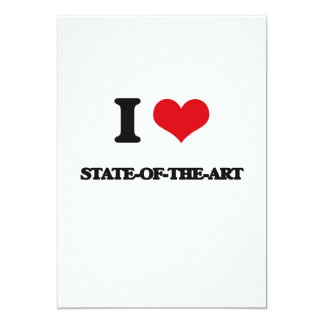 I love State-Of-The-Art 5x7 Paper Invitation Card