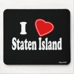 I Love Staten Island Mouse Pads