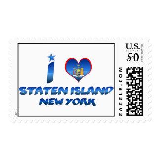 I love Staten Island, New York Postage