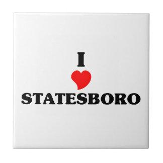 I love Statesboro Small Square Tile