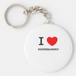 I Love Statesmanship Keychain