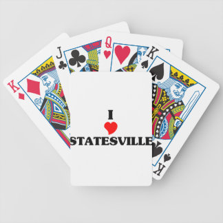 I love Statesville Bicycle Playing Cards