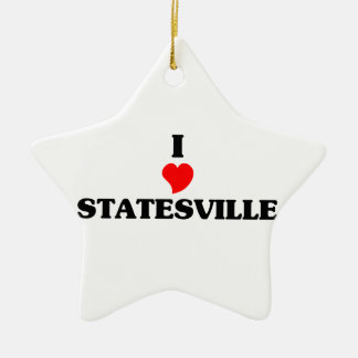 I love Statesville Double-Sided Star Ceramic Christmas Ornament