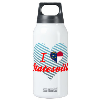 I Love Statesville, North Carolina 10 Oz Insulated SIGG Thermos Water Bottle