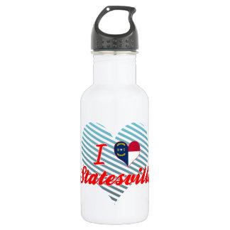 I Love Statesville, North Carolina 18oz Water Bottle
