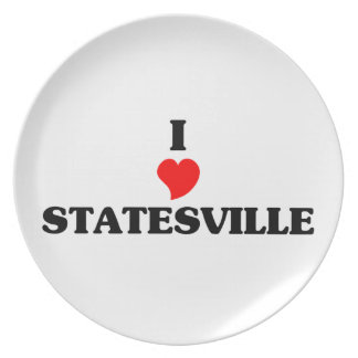 I love Statesville Party Plate