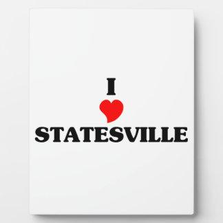 I love Statesville Photo Plaque