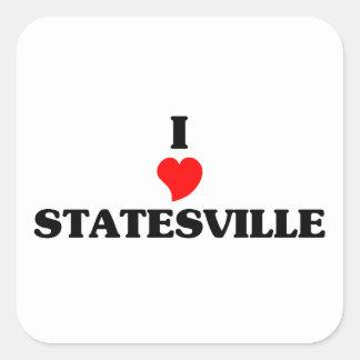 I love Statesville Square Sticker