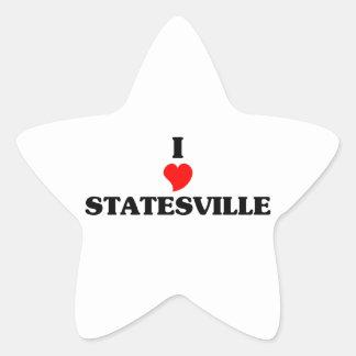 I love Statesville Star Sticker